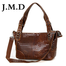 J.M.D 2017 New Arrival 100% Weave Woman Cow Leather Messenger Shoulder Bag Handbags 7262