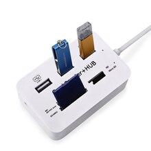 Для ПК Компьютерные аксессуары Micro USB Hub 3.0 Combo 3 порта Spliter Адаптер питания TF / SD / MS