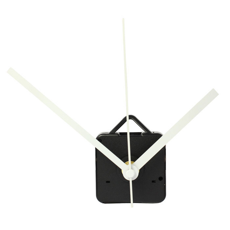 1PC High Quality Quartz Clock Movement Mechanism with Hook DIY Repair Parts Hands white Wholesale free shipping A4