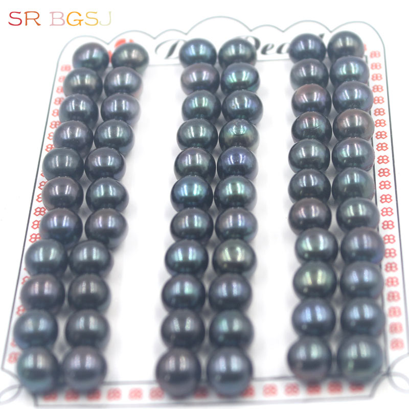 Beads Jewelry & Accessories Diligent Free Shipping 60pcs 8-8.5mm White Pink Purple Black Half Hole Pearl Beads Super Strong Luster Natural Freshwater Pearl In Pairs High Quality