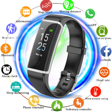 Купить с кэшбэком LIGE New Sport Bracelet Men WomenSmart Fitness Wristband Blood Pressure Heart Rate Monitor Pedometer Smart Watch For Andrdid ios