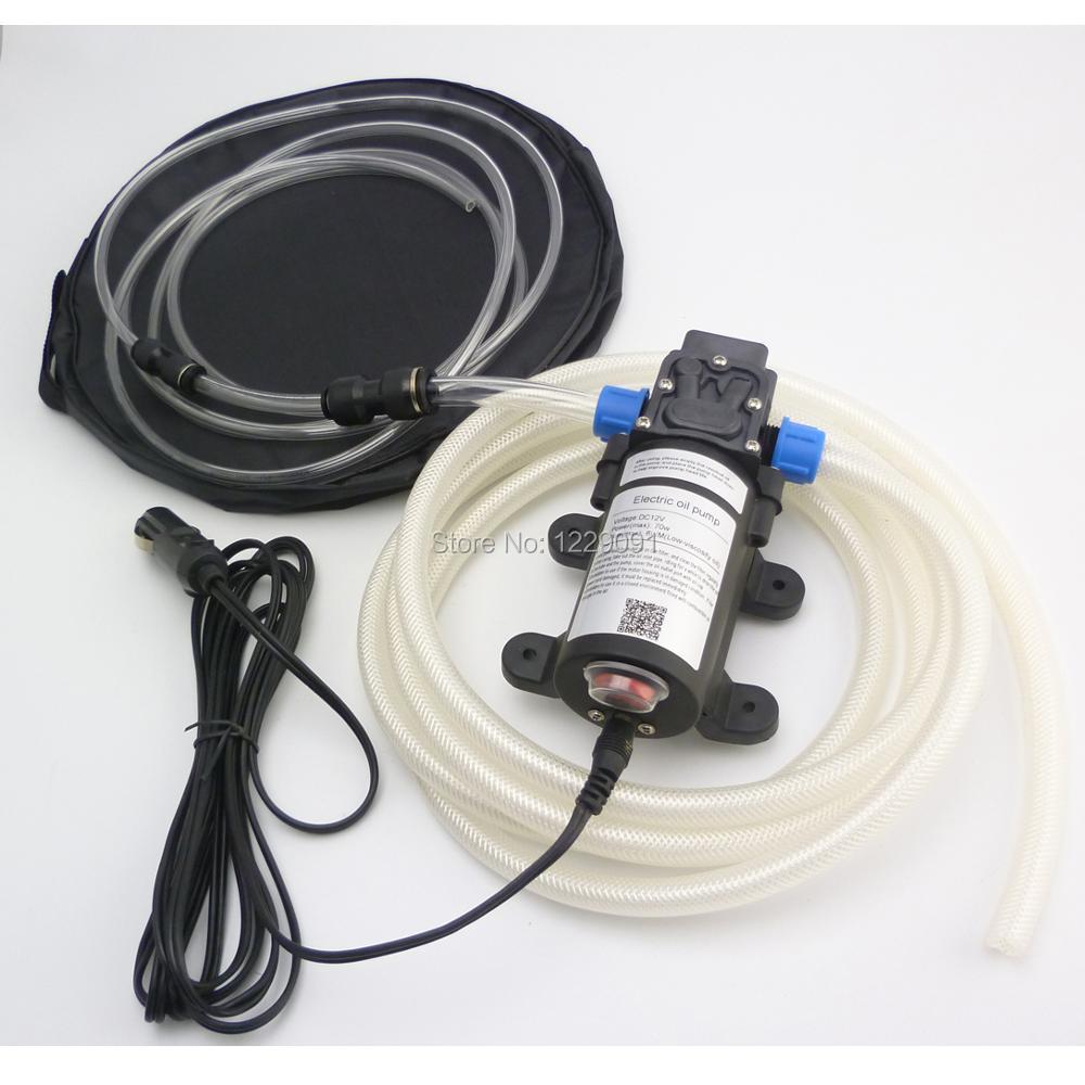 Pompe d'aspiration d'huile auto-amorçante 12 v 24 v 70 w pompe de transfert de carburant électrique pompe à huile diesel à essence