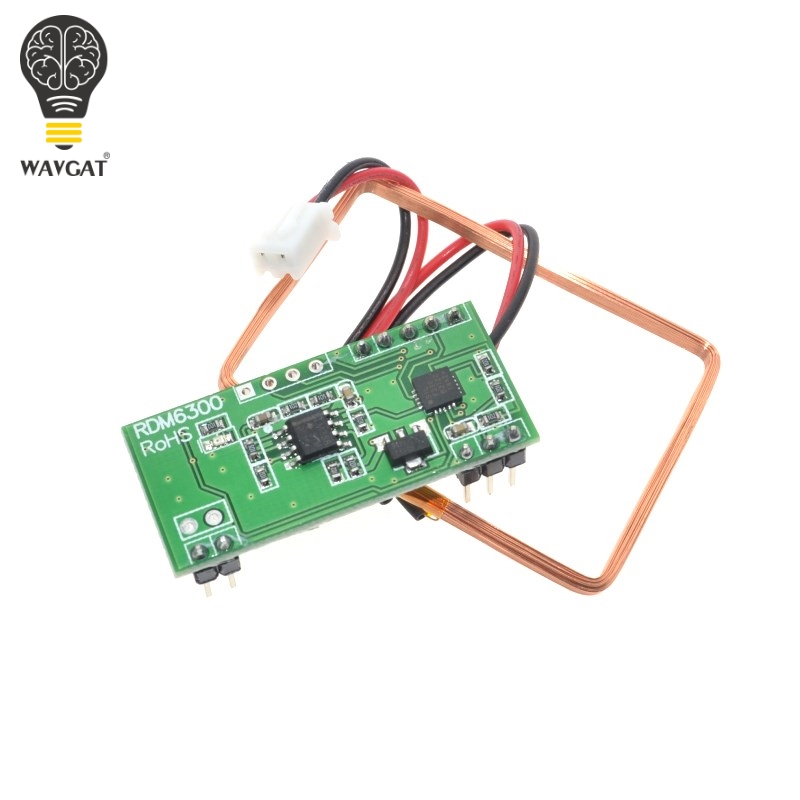 US $1 66 11% OFF|WAVGAT 125Khz RFID Reader Module RDM6300 UART Output  Access Control System for Arduino Best prices-in Integrated Circuits from
