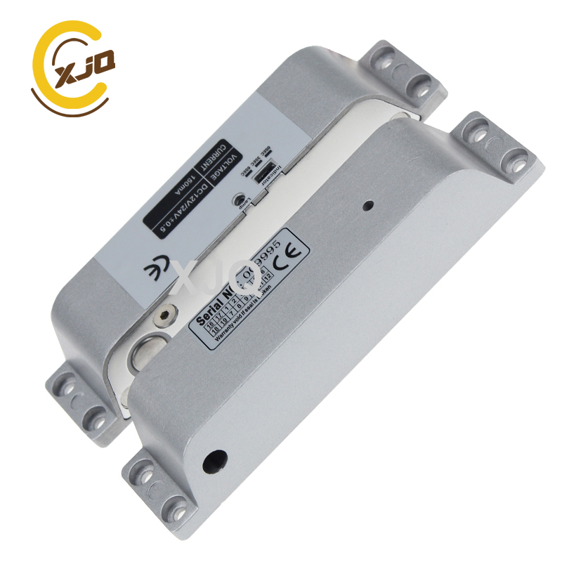 US $12 8 |XJQ DC12V Time delay Surface Mount Locks Fail safe Electric Drop  Bolt Door Lock for Access Control System-in Electric Lock from Security &