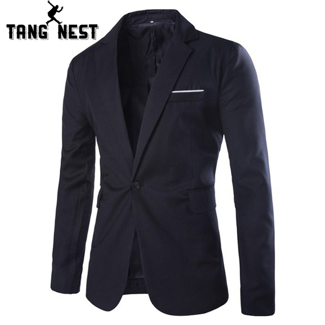TANGNEST Casual Blazer 2017 New Commercial Simple Design Men's Blazer Spring & Autumn Gentleman Asian M-XXL Size Suits MWX308
