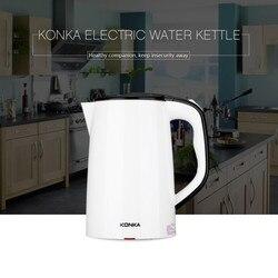 Konka KEK-15DG1585 1500 w 1.8l chaleira elétrica de água dupla camadas à prova de queimadura grande chaleira auto-fora pote de ebulição rápida ue/eua plug