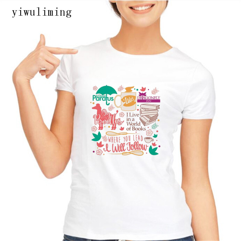 Gilmore Girls T Shirt Women Short Sleeve T-shirt Lucks Woman T-Shirt Asian Size 2017 New Print Tee Shirt Women Fashion