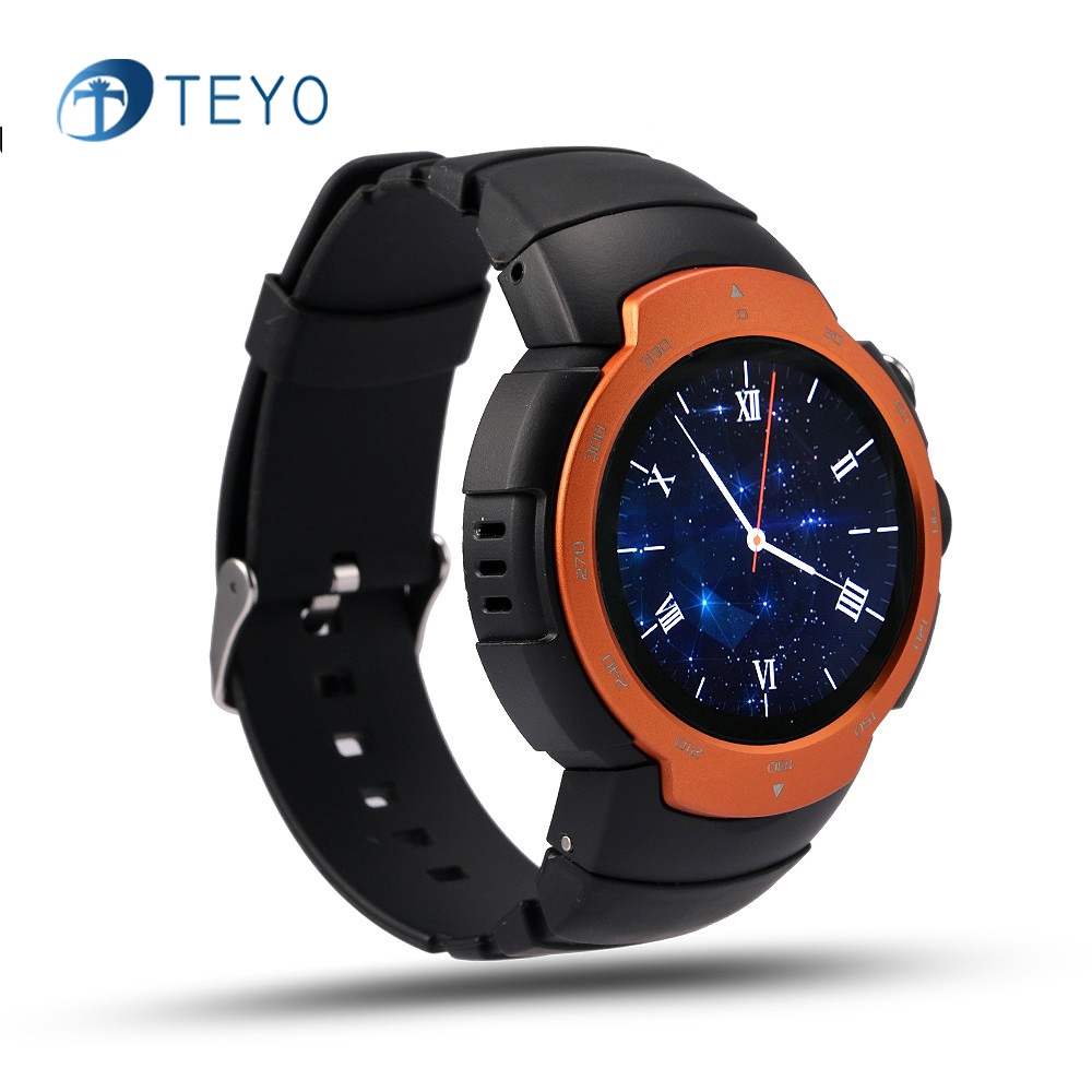 Teyo Sport Smart watch Heart Rate Sleep Monitor with GPS SIM Card Camera Remote Message Notification Pedometer Android IOS Watch smartch s958 smart watch sport waterproof heart rate monitor gps 2g sim card calling all compatible smartwatch for android ios c