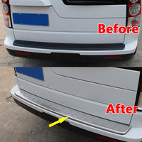 Stainless Steel Rear Bumper Protector Sill Plate Cover Car Accessroies Fit For Land Rover Discovery 3