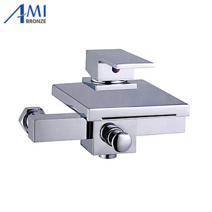 Contemporary Tub Faucet with waterfall Spout Wall Mount wf10Contemporary Tub Faucet with waterfall Spout Wall Mount wf10
