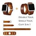 Urvoi cuff single/doble abrigos de viaje para apple watch banda extra-largo de alta calidad de Cuero genuino de La Vendimia del lazo 3 tipos en 1 Unidades