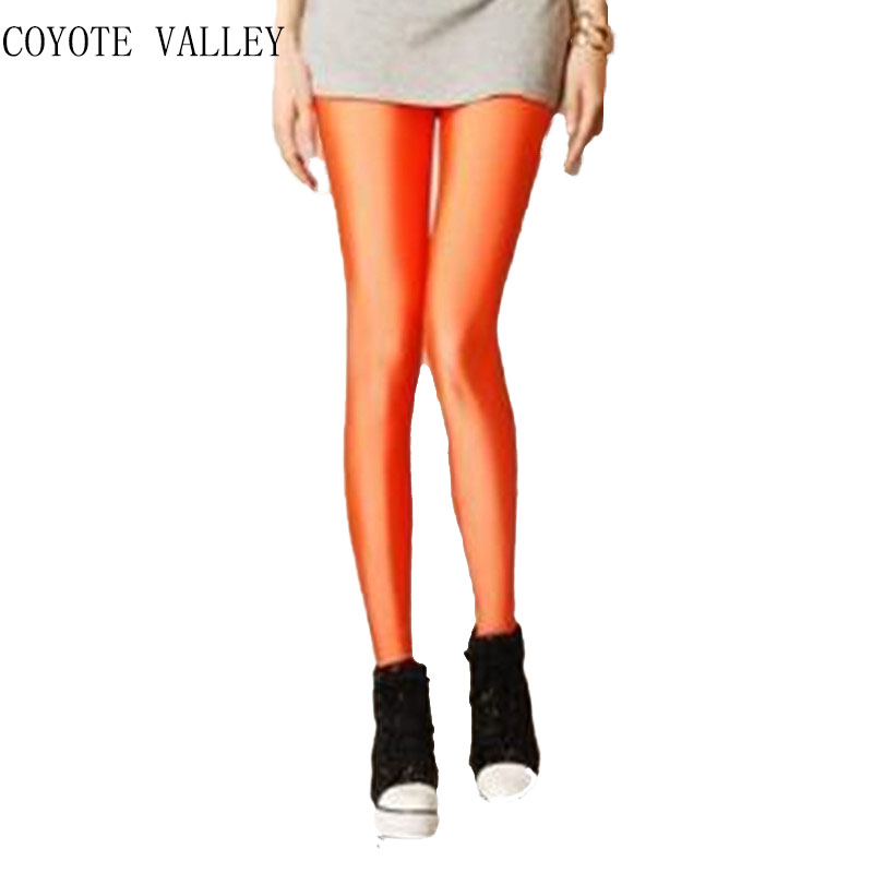 Coyote Top Solid Mid Ankle-length Valley 2017 Wholelsales New Women Leggings Legins Ray Fluorescence Leggins Pants Of Woman