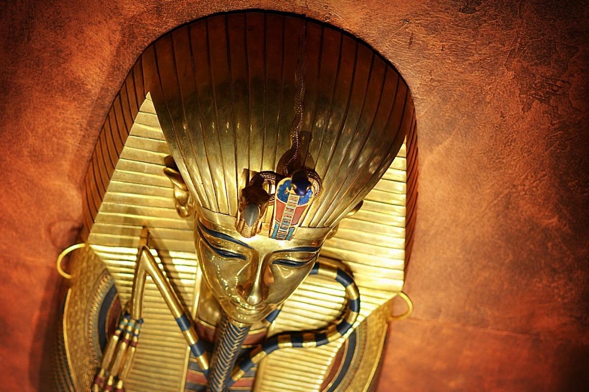 fabric poster custom print tutankhamun pharaoh ancient Egypt mask ...