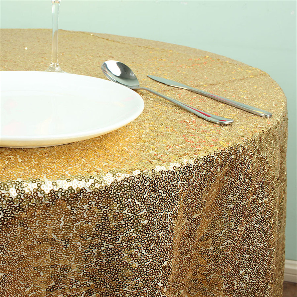 Good Gold Sequin Tablecloth 50 Inches Round Tablecloth Solid Table Cloth Table  Covers For Wedding Party Sequin Table Overlay In Tablecloths From Home U0026  Garden On ...