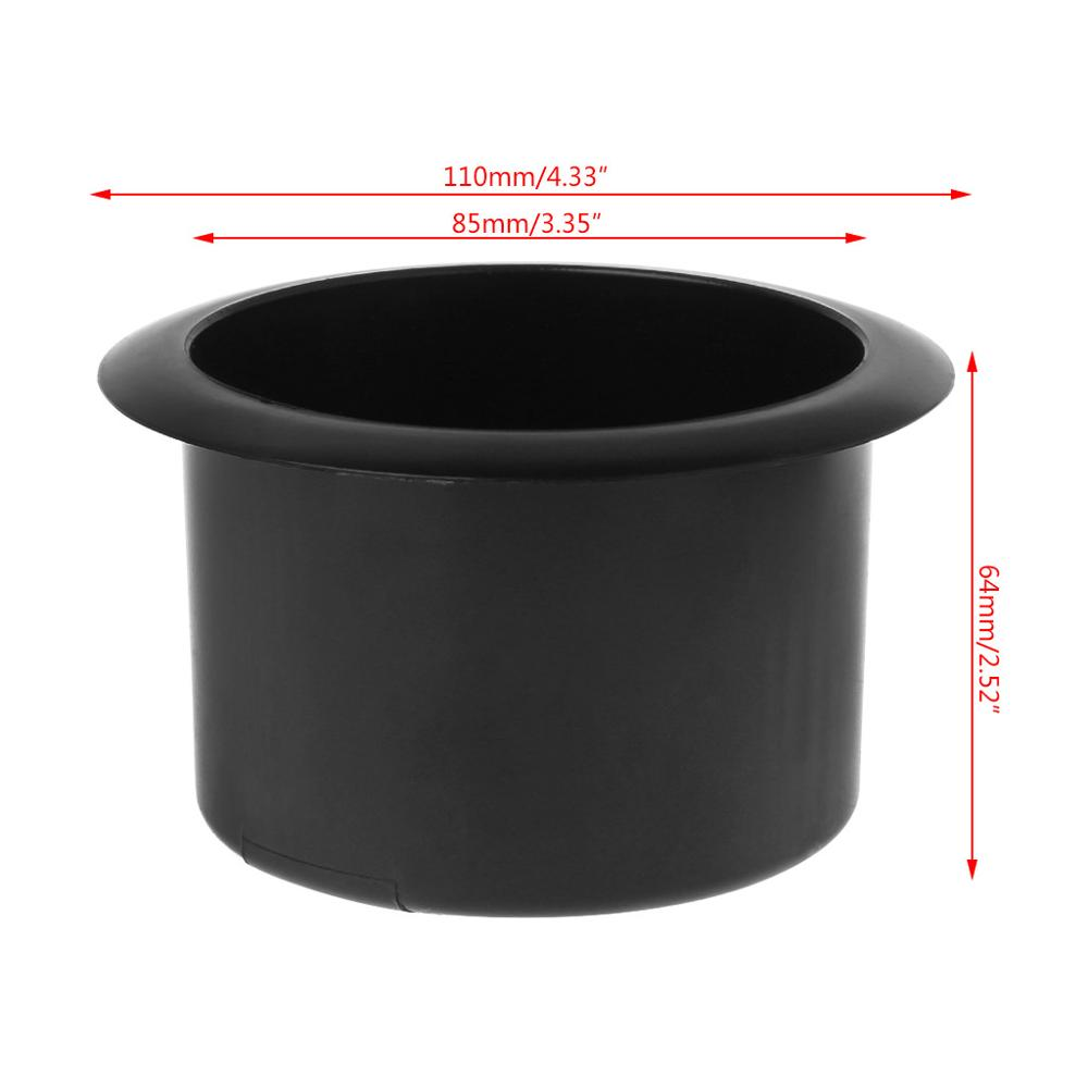 Excellent 4 PCS Boat Plastic Cup Drink Can Holder Boat Marine RV Universal Black