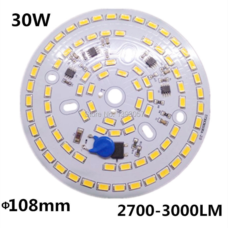 Free shipping 30W SMD 5730 5630 LED PCB with SMD5730 installed and IC driver . aluminum plate 20pcs 12w led light panel smd 5730 ic driver pcb input voltage ac110v 130v needn t driver aluminum plate free shippping