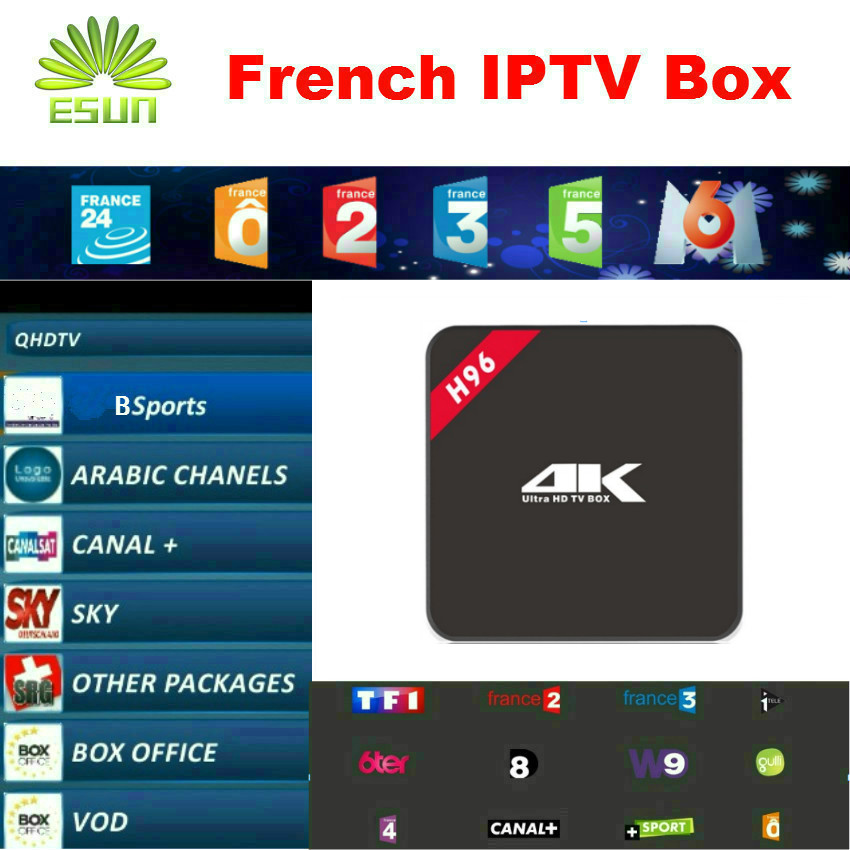 Atlas IPTV BOX H96 With 1 Year IPTV French Belgium IPTV box Arabic IPTV box Linux System IPTV box MAG254 Better than Neotv