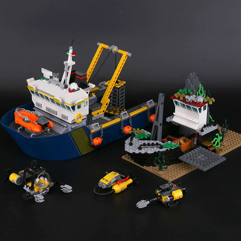 L Models Building Toy L02012 775Pcs Sea Exploration Blocks Model Building Kits For Boys Girls children Classic Toys Hobbies sermoido 02012 774pcs city series deep sea exploration vessel children educational building blocks bricks toys model gift 60095