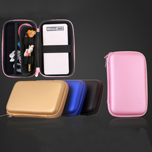 wholesale PU bag Cover Pouch for Power Bank Hard Disk Drive Protect Protector Bag storage bag for cable earphone