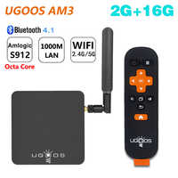 UGOOS AM3 Amlogic S912 Octa Core Smart Android 7.1 TV Box 2GB RAM 16GB ROM 2.4G/5G WiFi 1000M LAN Bluetooth 4K HD Media Player