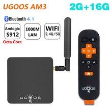 UGOOS AM3 Amlogic S912 Octa Core inteligentny Android 7.1 TV, pudełko 2GB RAM 16GB ROM 2.4G/5G WiFi 1000M LAN Bluetooth 4K HD odtwarzacz multimedialny