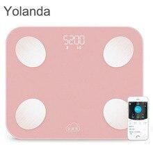 цены на Original YOLANDA Mini Smart Scale Household Support Android 4.3 IOS 7.0 Bluetooth4.0 Digital Body Fat Weighing Scale Floor Scale  в интернет-магазинах