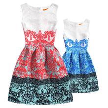 Одежда для семьи платья мамы и дочки одинаковые комплекты 2018
