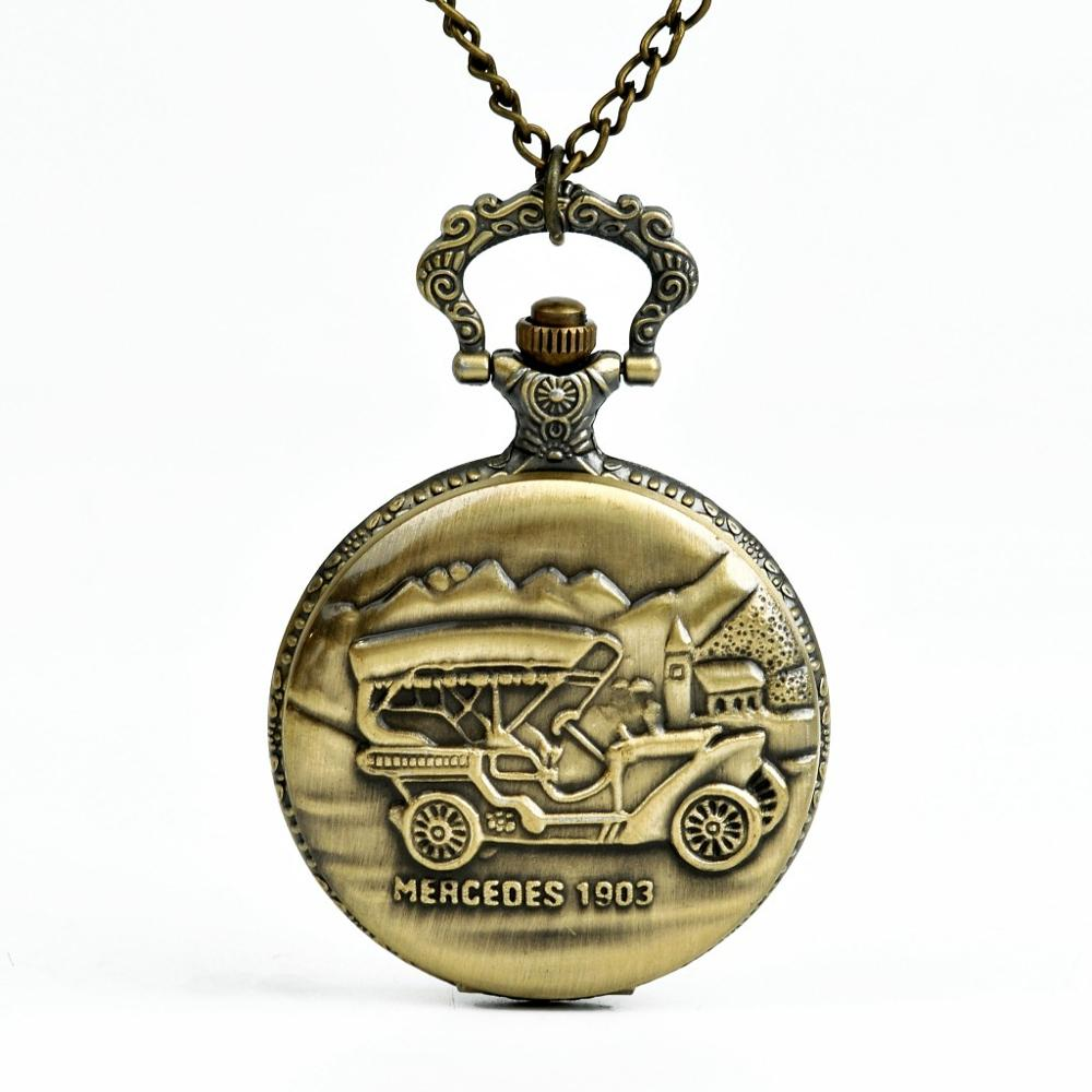 9074   Vintage Pocket Watch Coach Bronze Carriage Pocket Watch Bronze Men And Women Children's Gift Pendant Men And Women Gifts