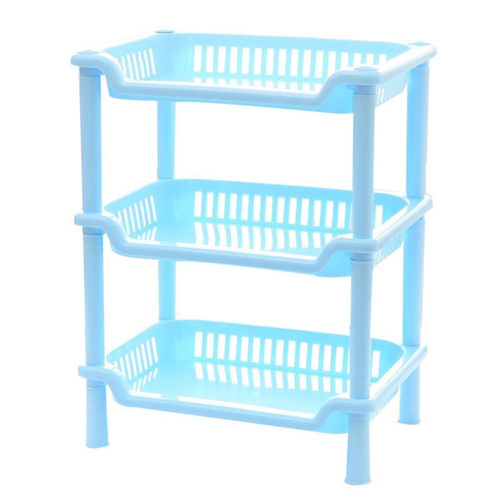 New Plastic 3 Layers Bathroom Kitchen Corner Storage Rack Organizer ...
