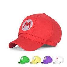 5 видов цветов! Аниме Супер шапка Марио Кепка Luigi Bros Косплей бейсбольный костюм подарок на день рождения Марио Кепка s подарок для взрослых детей Размер