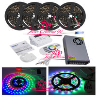 5 V WS2812B RGB Individueel Adresseerbare LED strip IP20 + muziek controller + power