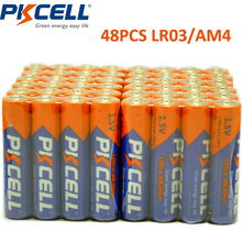 48 X PKCELL LR03 1.5 V Batteria Alcalina AAA Batterie A Secco E92 AM4 MN2400 MX2400 Batteria AAA da 1.5 Volt 3A bateria Baterias