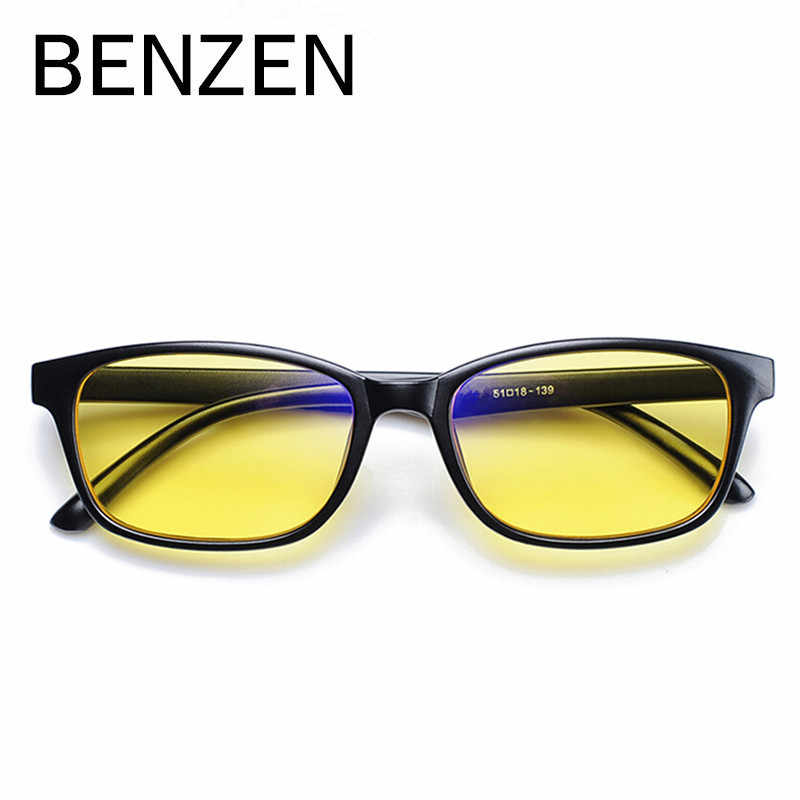 BENZEN Anti Blue Rays Computer Goggles Reading Glasses Radiation-resistant Glasses Computer Gaming Glasses Black With Case 5019