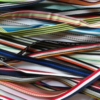 Cinta trenzada de 10mm de ancho 5 unids/lote, cinta de Color para caja de regalo