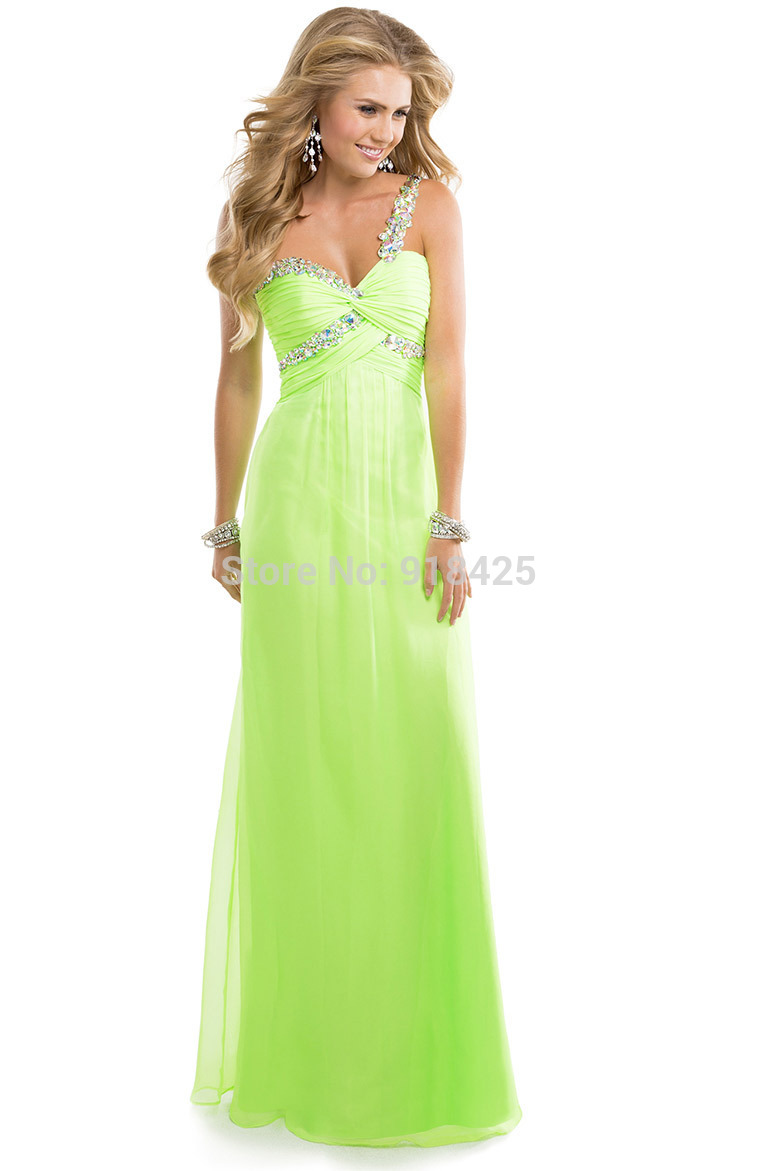 Vestidos de noche verde limon