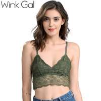2017 Wink Gal New Fashion Comfortable Women Bralette Lace Lingerie Floral Bra Brassiere Meshes Underwear W12209