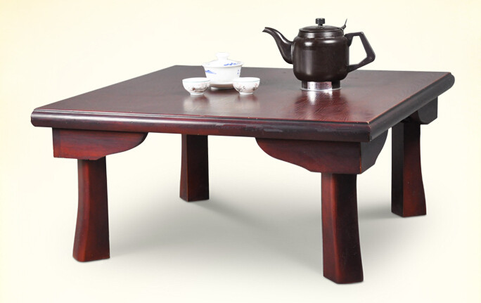 Asian Wood Furniture Japanese Dining Table Folding Legs Square 75cm Living Room Coffee For Tea