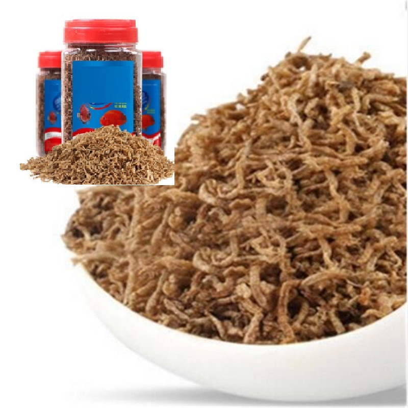 Freeze Dried Blood Insect Red Worm Food Aquarium Tank Tropical Kiss Fish Discus Tetra Betta Guppy Koi Reptile Turtle Feed 600ml