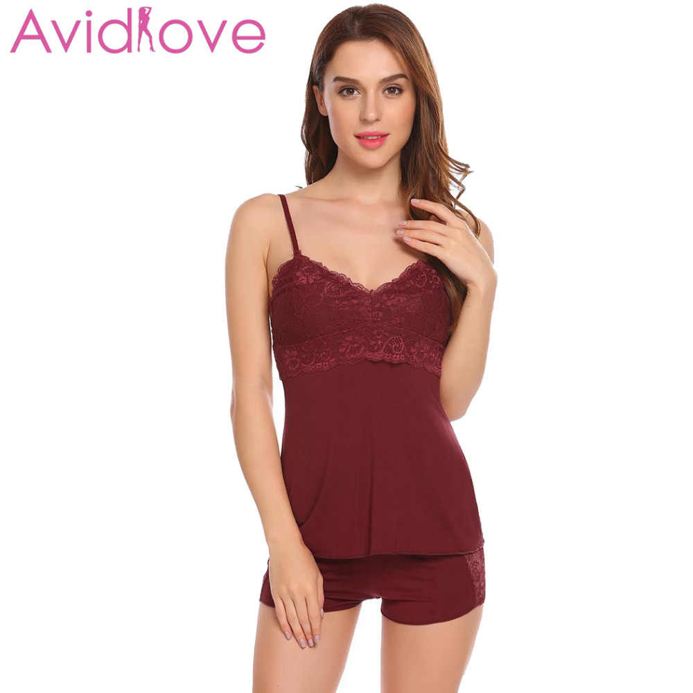 e731f664d96 Avidlove Pajamas Sets For Women New Cotton Pijamas Spaghetti Strap Nightwear  Sleepwear Sexy Pajamas Pyjamas Women