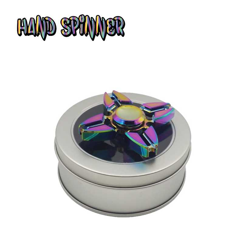 2017 Ny fidget spinner top-spinner-toyMetal Fidget Spinner och ADHD Adult Decompression Toy Action Zink Alloy Puzzle Finger Toy