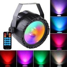 Mini Dmx512 Disco Rgb Stage Night Light 1pcs 30W Cob Led Par Light Remote Control RGB + UV Self-propelled For DJ Bar Party Bar