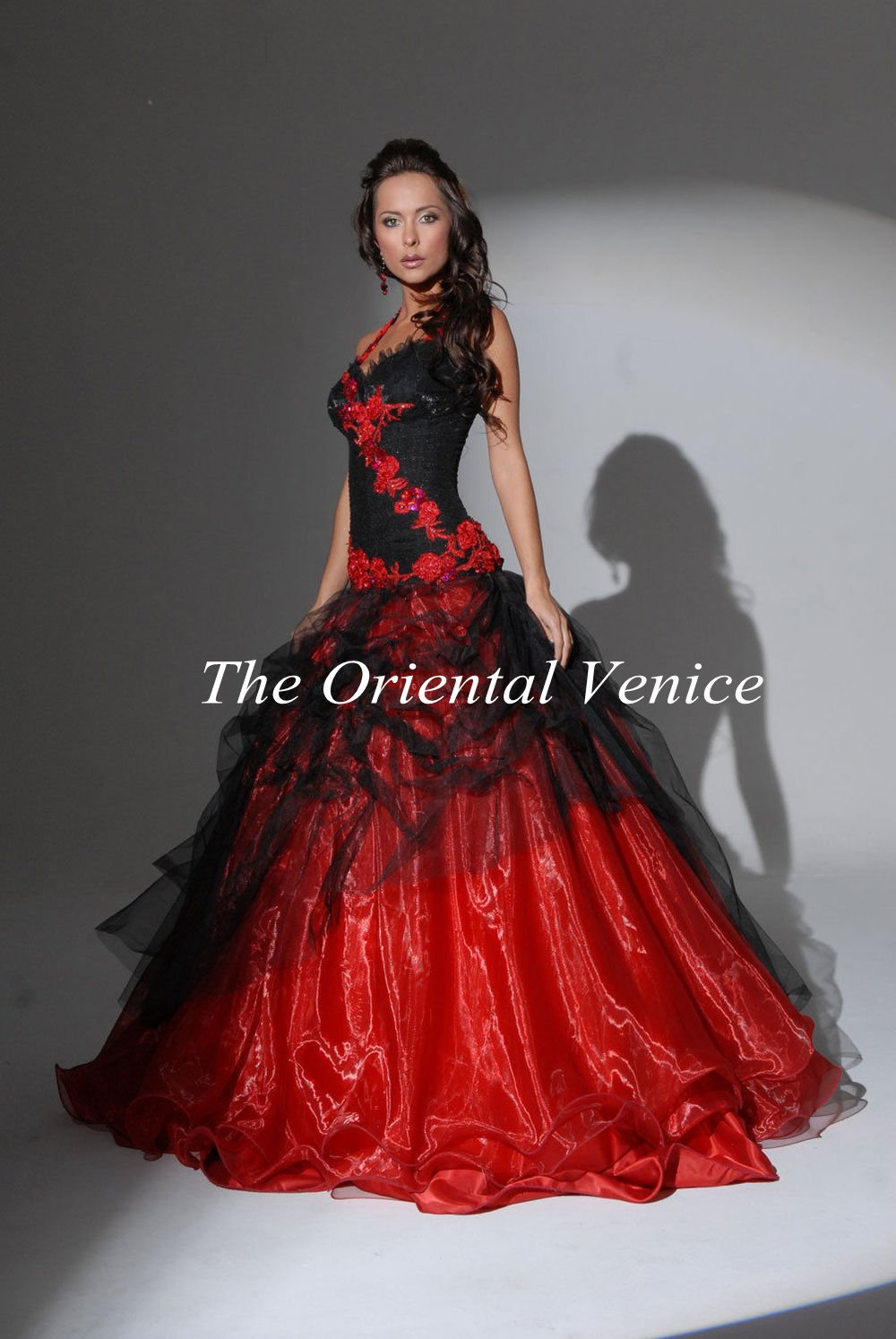 Popular Gothic Ball Gowns Black and Red-Buy Cheap Gothic Ball ...