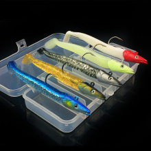 Jig Head Soft Bait Lure Kit 5 Pieces With Case 22g/11cm Jigs Fishing Lures цены