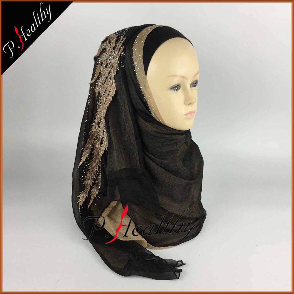 Свадебный хиджаб платок головной убор одежда модная свадебная шаль шарфы Муслин, можно выбрать Цвета, phw001 - Цвет: color13