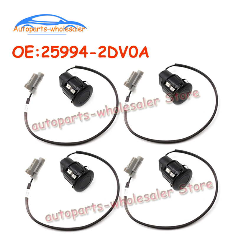 4 pcs lot 25994 2DV0A 259942DV0A For Nissan Tiida C11 J10 G11 1 6L 01 08 Car Bumper Ultrasonic PDC Parking Sensor High Quality in Parking Sensors from Automobiles Motorcycles