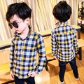 Thicken baby boys shirt plaid long sleeve plaid kids shirts children clothes boys tops turn-down collar winter clothes