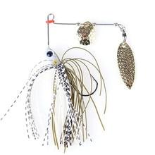 1pcs Trulinoya brand  7g Spinner Bait with Brass Fishing Spoon Lure hard Metal Jig Jigging lure Swimbait buzz bait