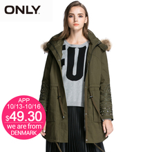 ONLY Brand 2017 NEW women fashion elegant high quality solid padded overcoat Trench Coat female Outerwear Woolen cloth 115322002