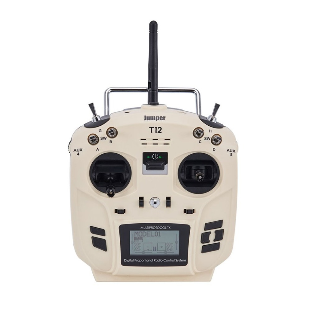 Jumper T12 OpenTX 12ch transmitter Radio Remote Controller with JP4-in-1 Multi-protocol RF Module for RC Drone Car Boat PartsJumper T12 OpenTX 12ch transmitter Radio Remote Controller with JP4-in-1 Multi-protocol RF Module for RC Drone Car Boat Parts