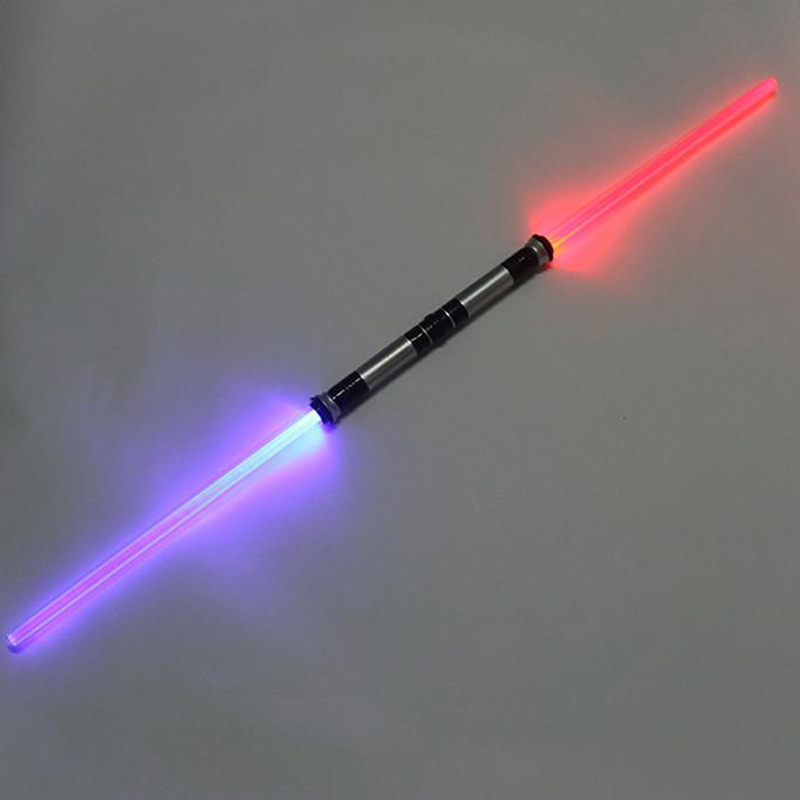 2 Pieces Star Wars Lightsaber Toy Funny Laser Sword Luminous Music Flashing Children's Outdoor Toys Cosplay Boys Girls Gift